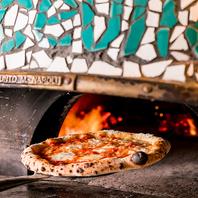 ナポリNO.1窯造り職人がつくった窯で焼きあげるピザ!