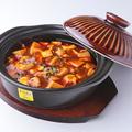 料理メニュー写真張飛マーボー豆腐/季節魚と高菜漬けのスープ/諸葛亮杏仁豆腐3人前