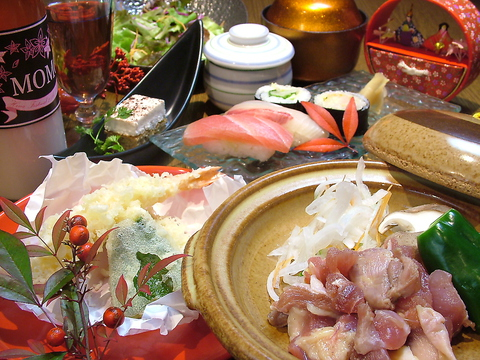 伝統の本格寿司や創作和食が楽しめる♪寿司×創作料理のコースなども多数ご用意☆