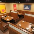 ≪4名様用:テーブル席≫リーズナブルにお楽しみいただけるので学生さんにも◎人数に合わせてぴったりのお席までご案内いたします!ご要望等ございましたら店舗まで♪