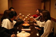 テーブル席。多人数様での宴会に♪