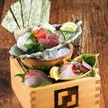 料理メニュー写真《かっこの升盛り》鮮魚五種盛り