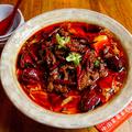 料理メニュー写真牛肉)四川伝統牛肉の激辛煮込み(水煮牛肉)