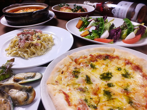 【SOUL&SPICEパーティープラン!】ゴルゴンゾーラのフェトチーネなど全7品+120分飲放4000円!