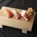料理メニュー写真女子人気NO.1 サーモン三種盛り合わせ