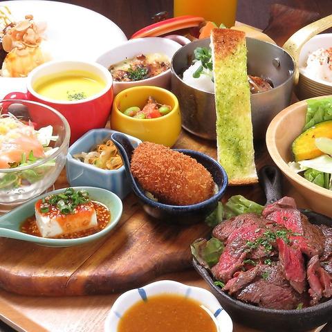 和牛ハンバーグ・ステーキが自慢。ディナー限定の本格洋食[食放]がお勧め★3500円から