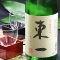 東一(佐賀) 山田錦純米酒佐賀の人気地酒「東一」の定番酒です。綺麗さとふくよかな味わいとが調和したバランスの良さが光ります。様々な料理と合わせやすく飲み飽きない食中酒です。(やや甘口)1合   650円
