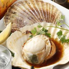 料理メニュー写真● 北海道 ・猿払産 活・帆立 5年貝(焼き・刺し)