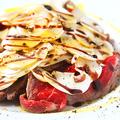 料理メニュー写真ローストビーフとマッシュルームのカルパッチョ