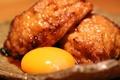 料理メニュー写真名物 つくねの卵黄添え