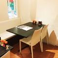 【3名様~4名様】テーブル、ソファー席