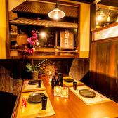 少人数様でのご宴会に最適な個室席を完備しております!間接照明が優しく照らす落ち着いた雰囲気の個室席は田町での宴会や飲み会、女子会や合コンなど様々なシーンに最適な個室空間となっております♪