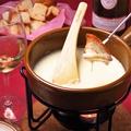料理メニュー写真チーズフォンデュ ディナーセット