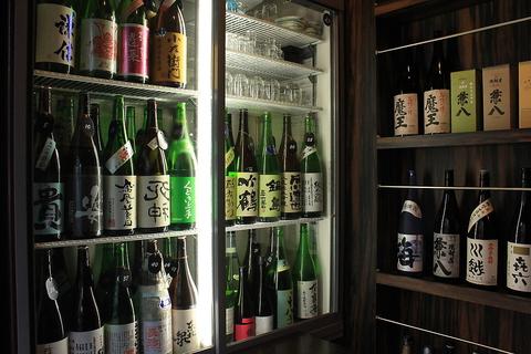 日替わりの日本酒、焼酎は常時合わせて100種類程!