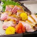 料理メニュー写真もも肉のたたき(すだちポン酢)
