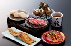 梅丘寿司の美登利 回し寿司活の画像