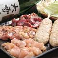 料理メニュー写真道産田舎地鶏セット