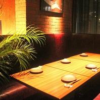 テーブル個室・座敷個室や90名様までの掘りごたつ座敷