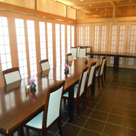 テーブル席、お座敷など、各種個室もご利用頂けます