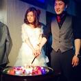 【無料特典3】披露宴さながらのカットケーキBGMと照明効果で盛り上がり間違いなし!無料