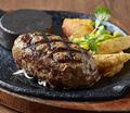 料理メニュー写真網焼きハンバーグ(200g)
