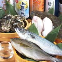 鮮度抜群の魚介類を仕入れ!刺身はもちろん生牡蠣も!