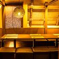 ブラウンを基調とした落ち着きある上品な空間。照明も明るすぎずゆったりとお寛ぎいただけるお席となっております。大事な接待や会食におすすめのお席となっております。歓送迎会の催し事にもぴったりの空間です。