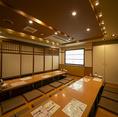 座敷個室は、2室に分けることが可能。仕切りをとって36名様での利用も可能!