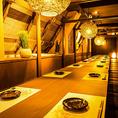 様々なシチュエーションに対応可能な雰囲気自慢の個室空間。浦和での女子会や誕生日会、歓送迎会など各種宴会に最適な個室空間となっております。事前予約で特製デザートプレートをご用意致します。