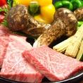黒毛和牛や神戸牛のステーキも人気です