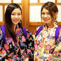 沖縄伝統×琉球衣装のスタッフがみなさまをお出迎え♪