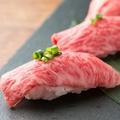 料理メニュー写真黒毛和牛の炙り寿司