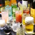 焼酎、日本酒、ワイン、カクテル等々お料理に合うドリンクメニューも豊富にご用意しております!
