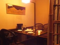 デートや特別な日、接待に最適ゆったり個室