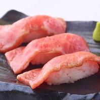 焼肉屋ならでは『神戸牛炙り肉寿司』