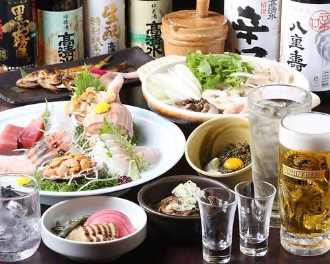 季節の秋田郷土料理と地酒をお楽しみ下さい。