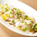 料理メニュー写真北海道産生タコのカルパッチョ
