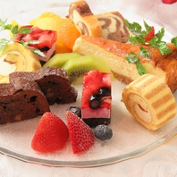 女性に大人気☆料理長自慢のデザートの数々