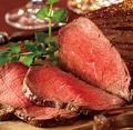料理メニュー写真自家製牛もも肉のローストビーフ