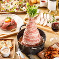 料理メニュー写真一押し肉鍋ビッグマウンテン