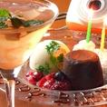 【女子会に人気のワケ2】◆サプライズサービスがすごい◆フォンダンショコラをつかったデザートプレートなどが人気!
