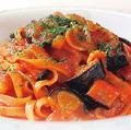料理メニュー写真【トマトソースベース】 なすとベーコンのトマトソース