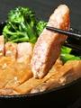 料理メニュー写真芳寿豚ロースステーキ~わさびと塩で~
