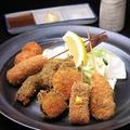 料理メニュー写真【魚貝串揚げ】ホタテとシイタケ