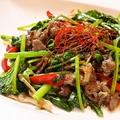 料理メニュー写真青野菜と牛肉のオイスター炒め