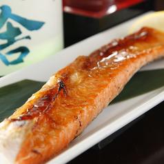 料理メニュー写真● 釧路沖産 ・鮭(ハラス)の炙り焼き