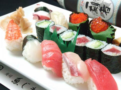 築地の本格寿司をリーズナブルな価格でお楽しみいただけます。