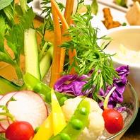 新鮮・直送野菜がたっぷりの料理♪