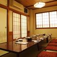 個室は2~70名様まで12室!完全個室です。
