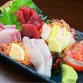 かんぱちや蛸、サーモンや鮪、帆立など新鮮な魚介をご堪能頂けるお造りの盛り合わせをご用意しました!お刺身の他にも新鮮な魚介を使ったお料理を多数ご用意しております。『きんいち』の創作和食料理をどうぞ心ゆくまでご堪能下さい。